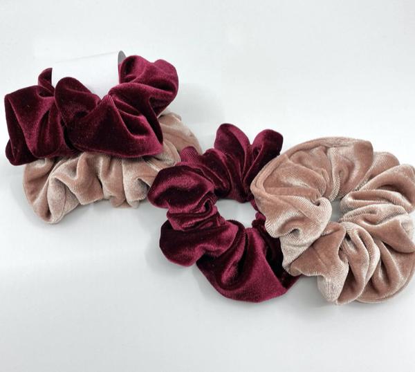 The Mila Velvet Hair Ties set of 2