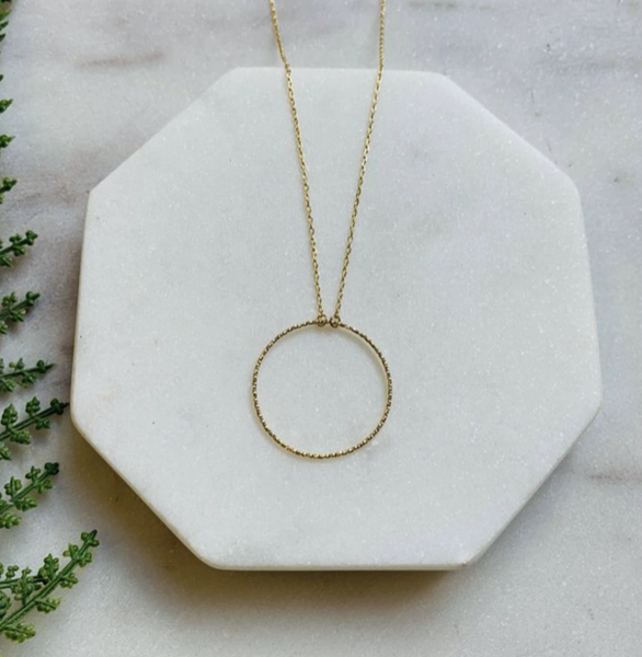 DELICATE GOLD CIRCLE NECKLACE