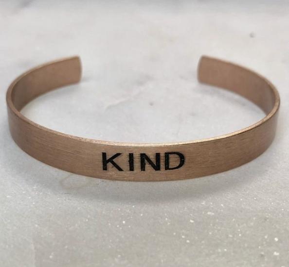 Kind- Brushed Copper Cuff - Rose Gold