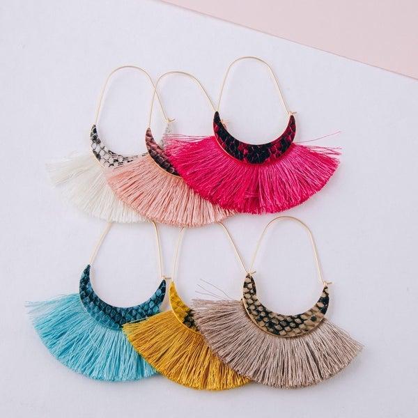 Fringe Tassel Wire Hook Earrings