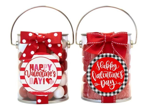 Valentine's Day Candy Paint Jars