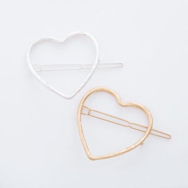 Large Hollow Heart Hair Pin
