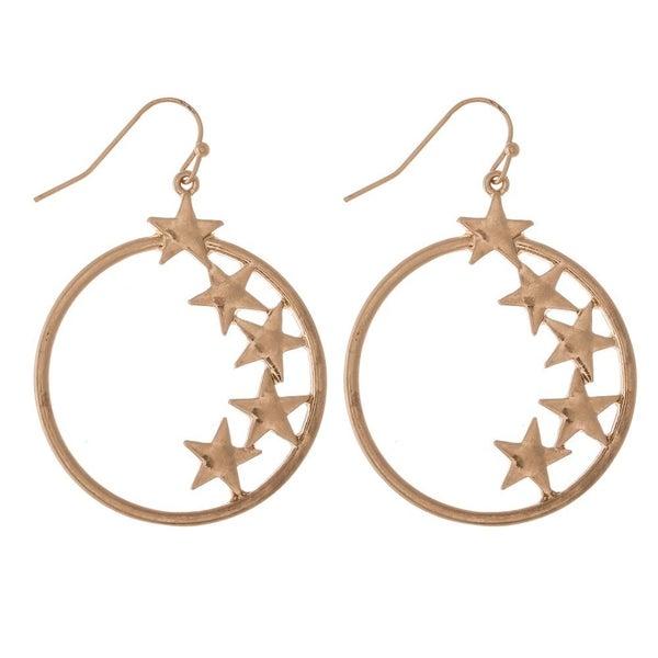 Inner Star Hoop Earrings