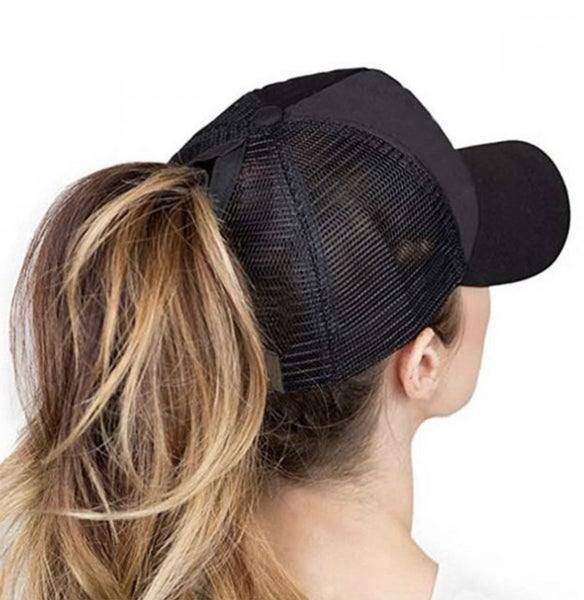 Pony Tail Cap with Mesh