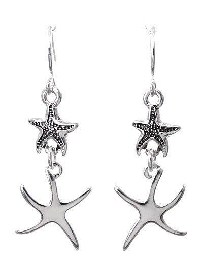 Double Drop Starfish Earrings