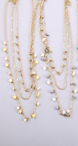 Triple Layer Star Necklace