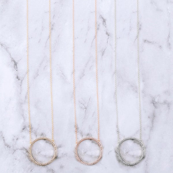Cubic Zirconia Circle Necklace