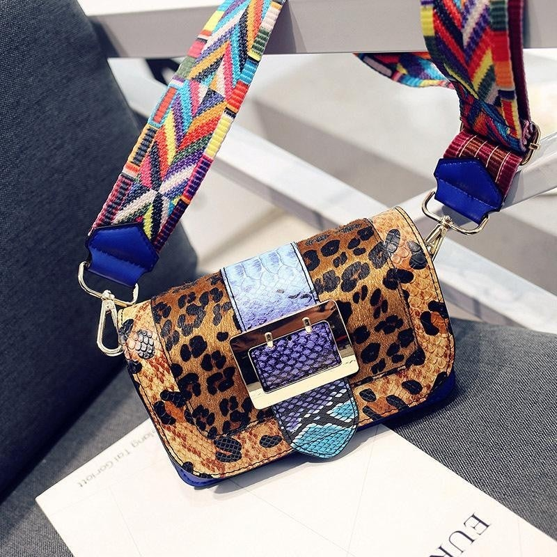 Multi Print Trendy Crossbody Bag
