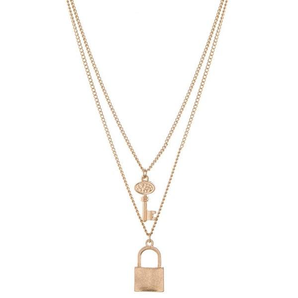 Lock & Key Dainty Necklace