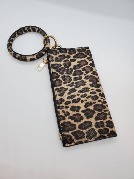 Leopard Key Ring Wallet