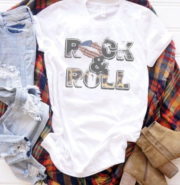 Vintage Print Rock & Roll Tee