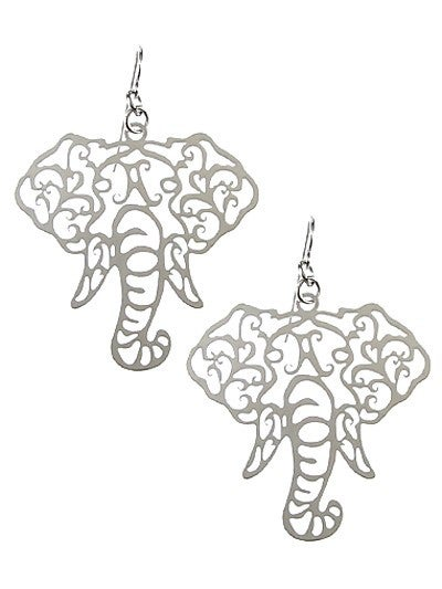 Filigree Elephant Earrings