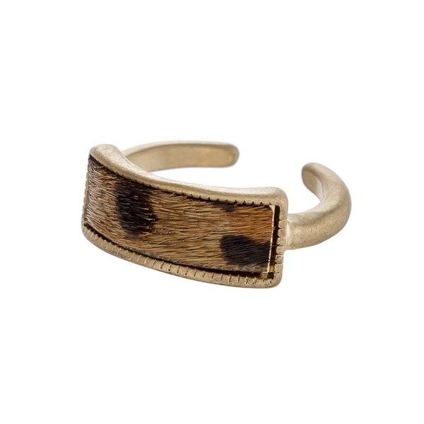 Faux Fur Encased Metal Ring