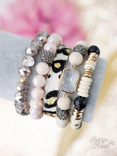 Yours Truly Bracelet Set LEOPARD/CREAM