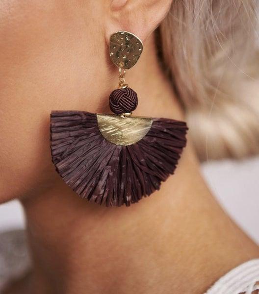 Knotted Raffia Earrings