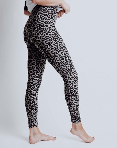 Gray Leopard Leggings