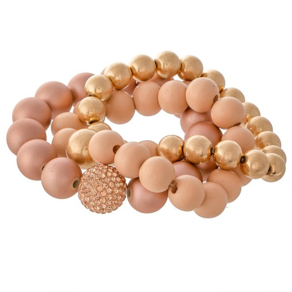 Large Bead Bracelet Set