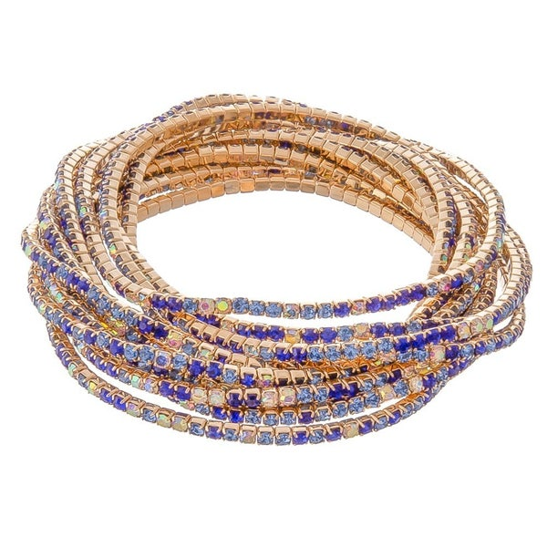 Rhinestone Tennis Bracelet Set