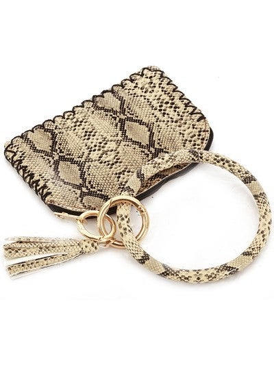 Leather Keychain Coin Purse (SNAKE)