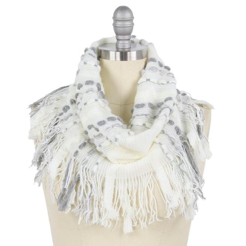 Stitch Knit Tube Scarf