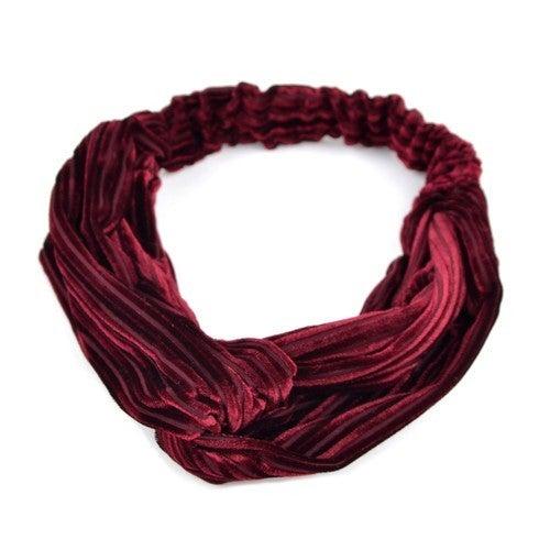 Velvet Criss Cross Headband