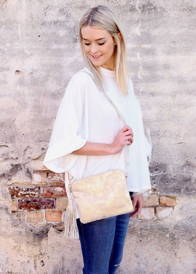 Crossbody Purse with Tassel