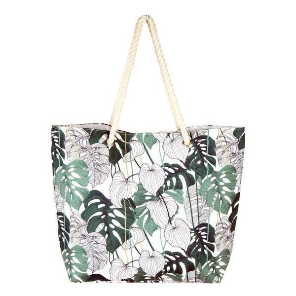 Palm Leaf Beach Bag