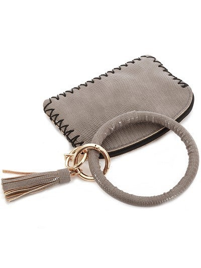 Leather Keychain Coinpurse ALLIGATOR