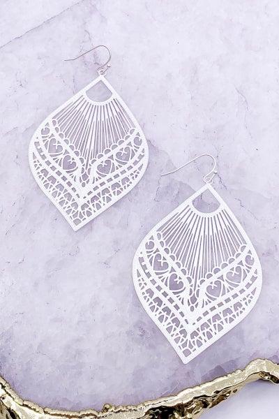 Matte Silver Filigree Earrings