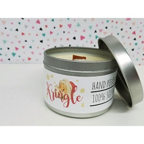 Wooden Wick Candle- Kringle