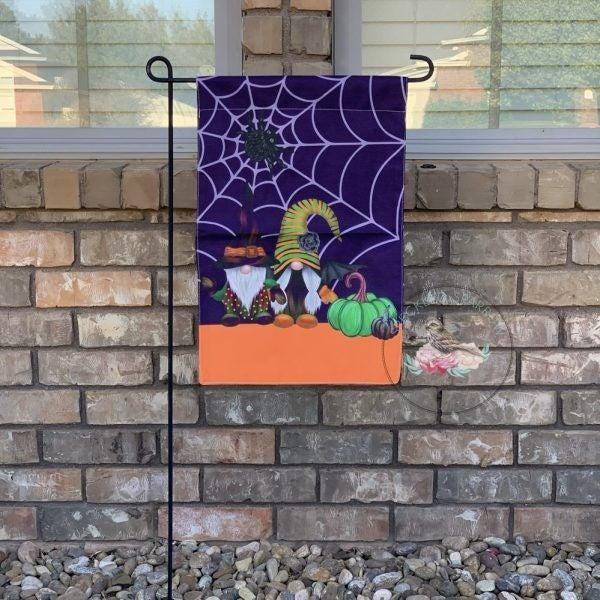 Gnome Halloween Garden Flag