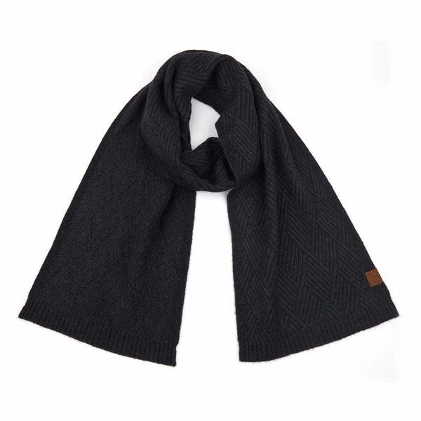 C.C Diagonal Stripe Criss-Cross Knit Pattern Scarf