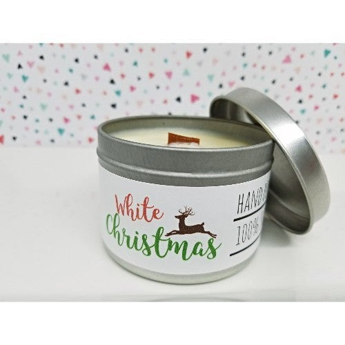 Wooden Wick Candle- White Christmas