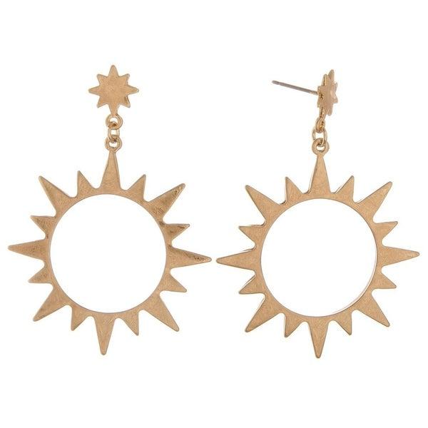 Sunburst Drop Earrings
