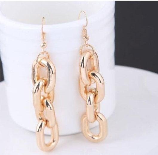 Chunky Chain High Fashion Earrings