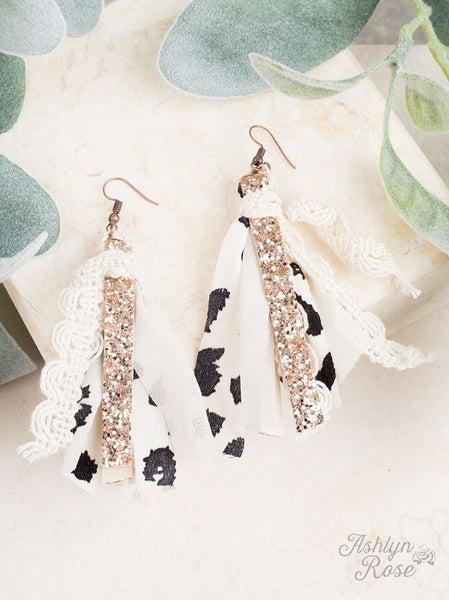 Spotted Tassel Earrings