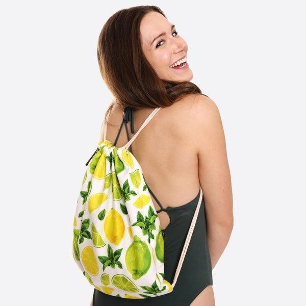 Beach Towel Drawstring Bag