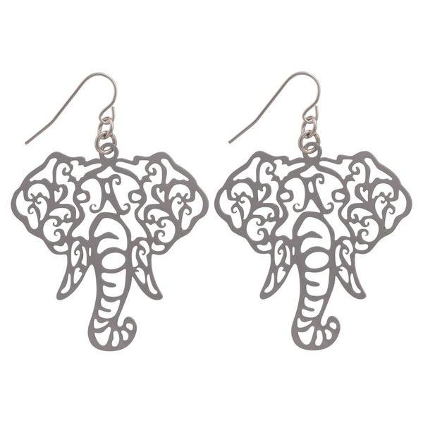 Elephant Filigree Earrings