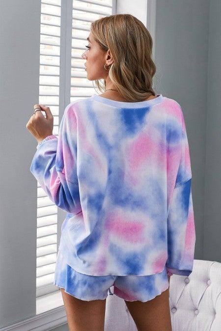 Blue & Pink Tie Dye Lounge Set