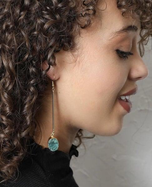Aventurine Gemstone Drop Earrings