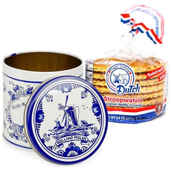 Caramel Stroopwafel 8-Pack with Tin