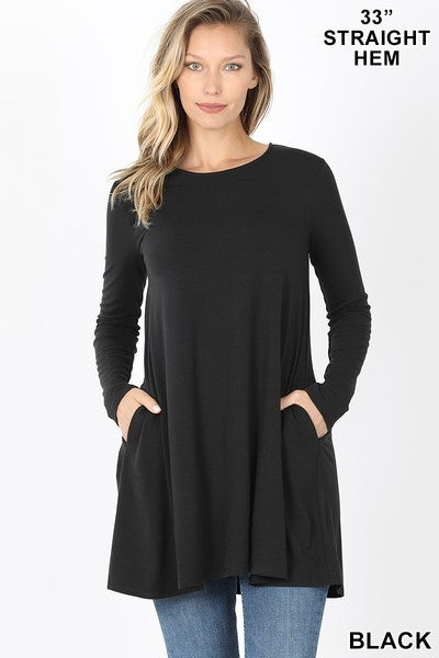 Long Sleeve Tunic with Pockets