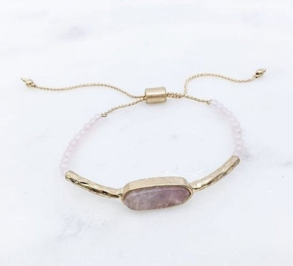 Semi Precious Stone Toggle Bracelet