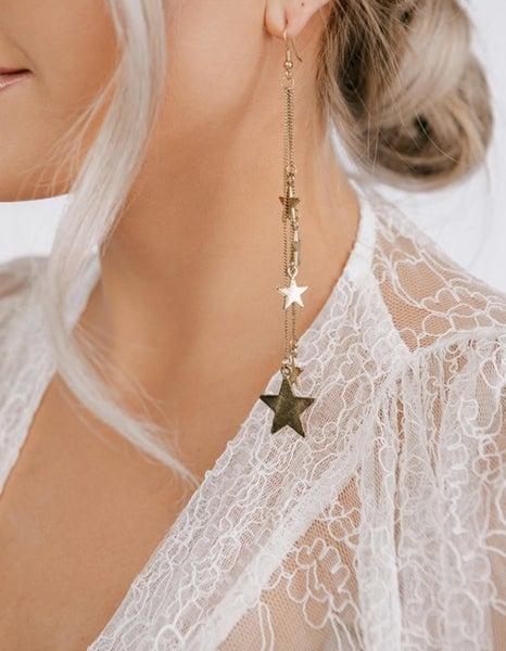 Chain Star Drop Earrings