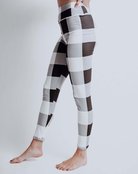 White Plaid Leggings