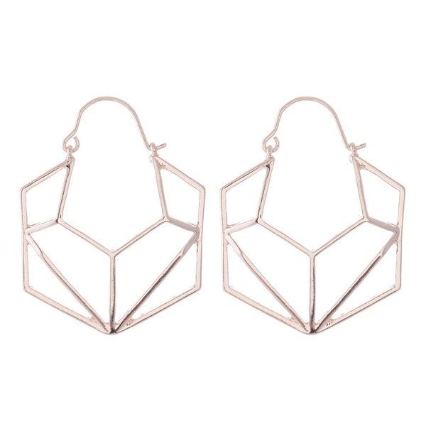 Geometric Hexagon Earrings