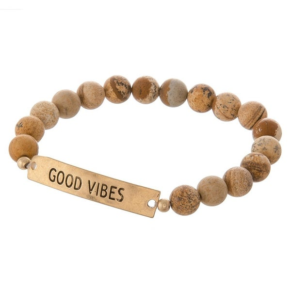 "Beaded ""Good Vibes"" Bracelet"