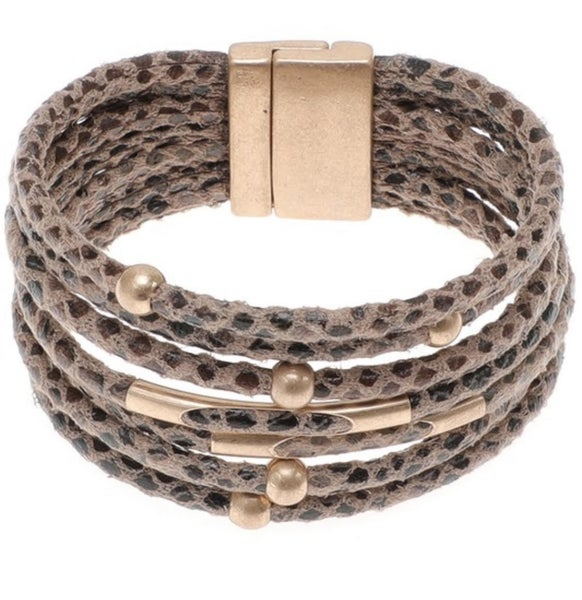 Multi Layered Magnetic Bracelet