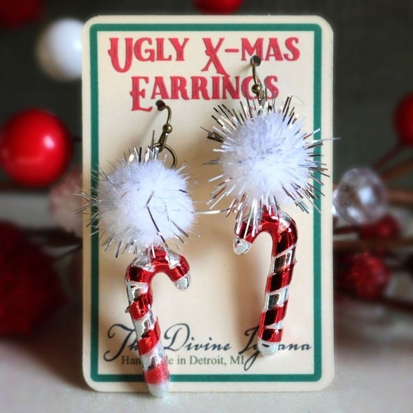 """Ugly"" Christmas Earrings"
