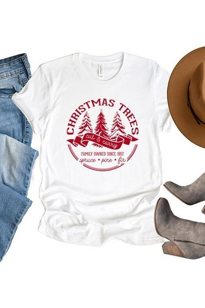 Christmas Tree Cut & Carry Tee